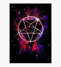 Space Demon 2049 - Evil Synthwave Sigil Photographic Print
