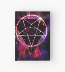 Space Demon 2049 - Evil Synthwave Sigil Hardcover Journal