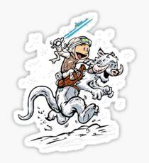 Calvin and Hoth Sticker
