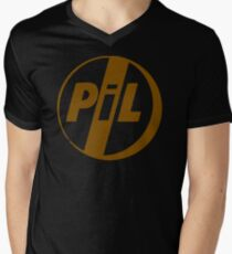 BEST T-SHIRT KE46 Public Image Ltd Pil Punk Band T Shirt Trending Men's V-Neck T-Shirt
