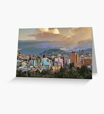 Ecuador. Quito. Sunset. Greeting Card