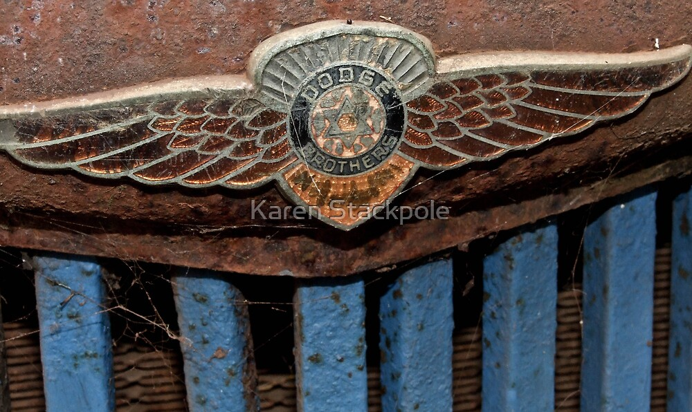 Old Dodge Truck Badge - Bridgetown, Western Australia by Karen Stackpole