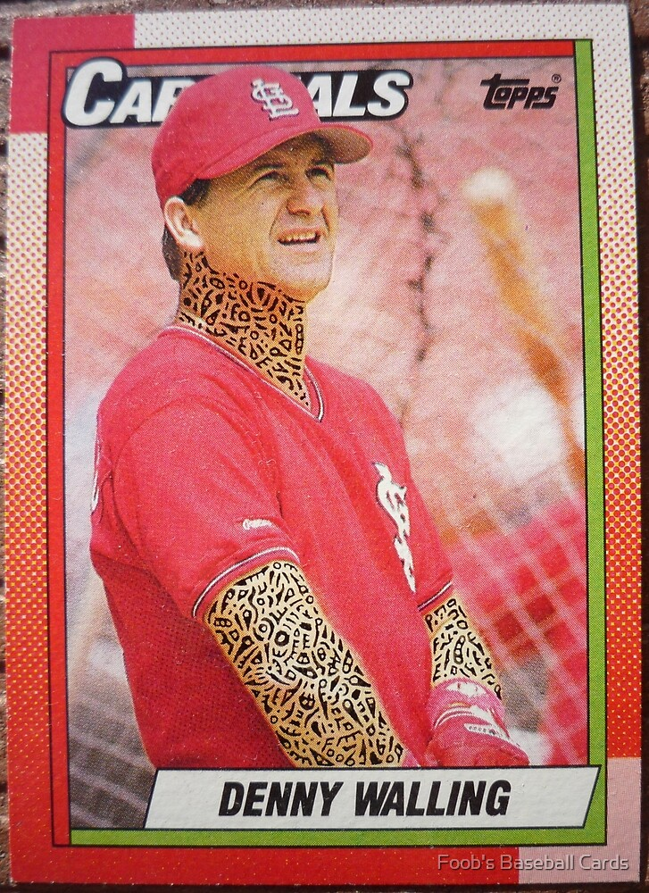 352 - Denny Walling by Foob's Baseball Cards