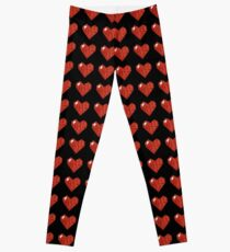pixel valentines day heart Leggings