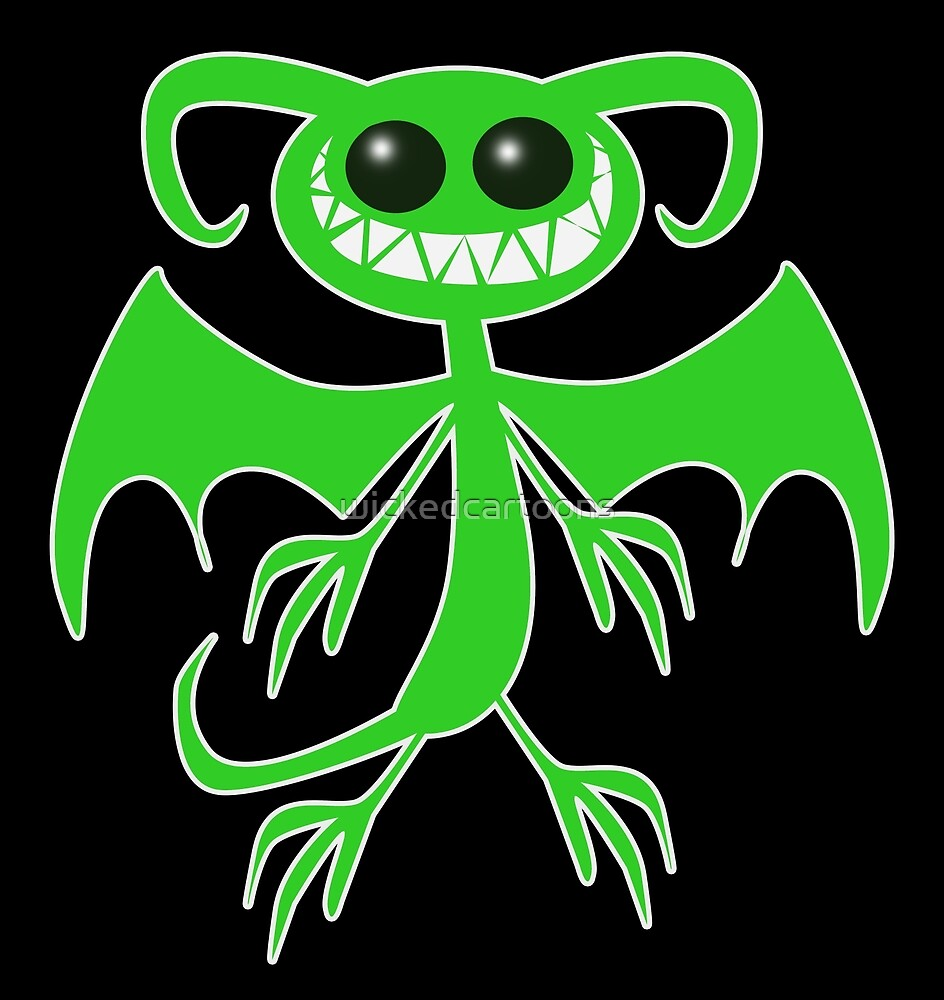 GREEN DEMON by wickedcartoons