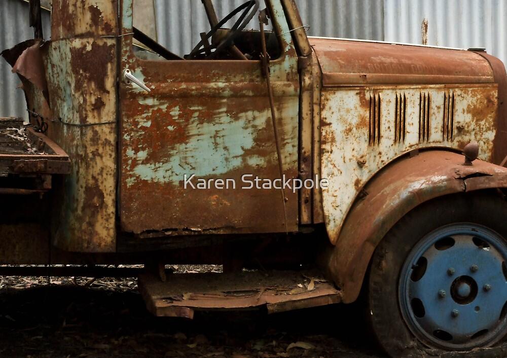 The rusty old farm truck  - Bridgetown, Western Australia by Karen Stackpole