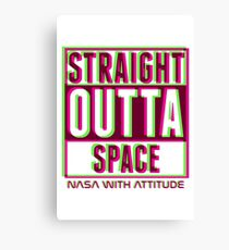 Neon Straight Outta Space 2  Canvas Print