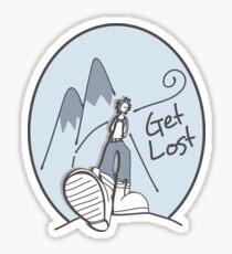 Get Lost Wanderer Cartoon  Sticker
