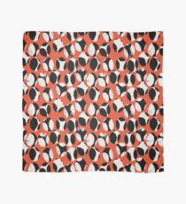 BEETLES AND STONES, mofdern design in orange red, black, cream Scarf