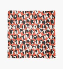 BEETLES AND STONES, modern design in orange red, black, cream Scarf