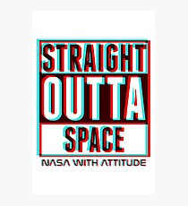 3D Straight Outta Space 2  Photographic Print