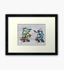 Cops & Robbers Framed Print