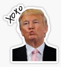 Kissing trump Sticker