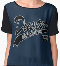 75 Plymouth Duster - White Outline Women's Chiffon Top