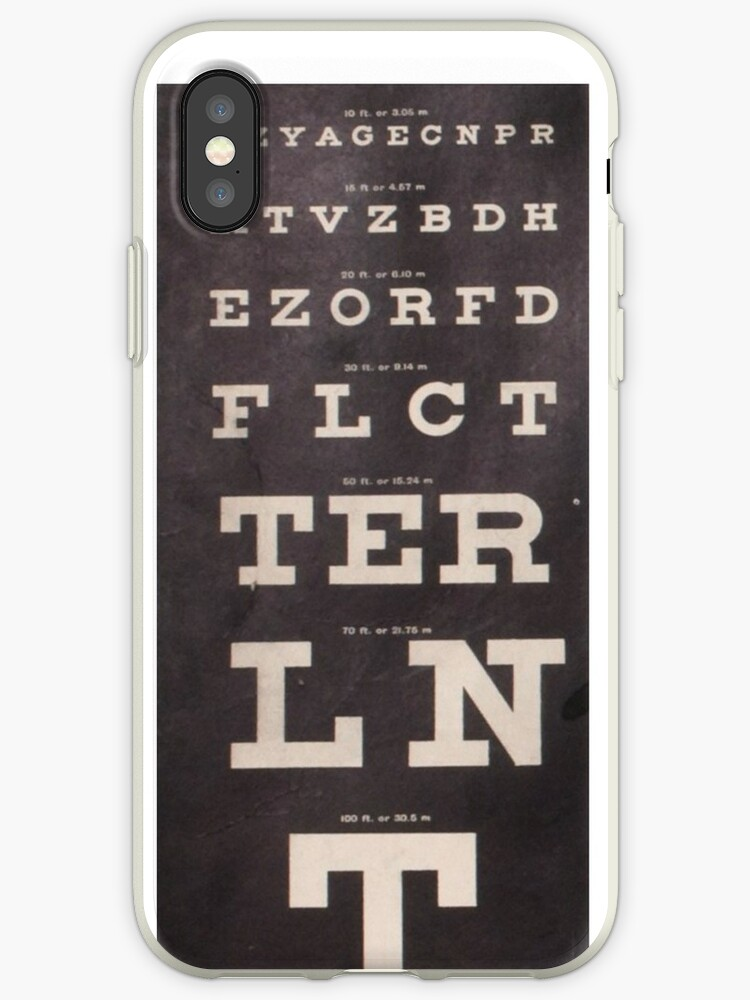 Antique Eye Chart Iphone Cases Covers By Bluespecsstudio Redbubble