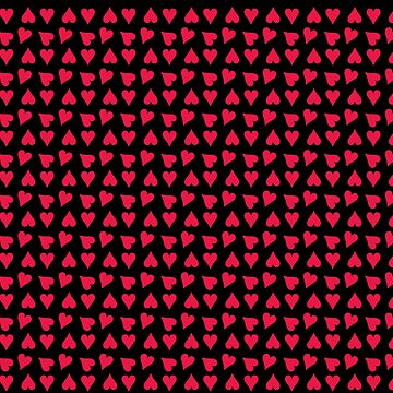 Tiny Red Hearts on Black by Greenbaby
