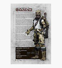 Bossk (Bounty Hunter Series) Photographic Print