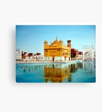 The Golden Temple Amritsar painting  Canvas Print