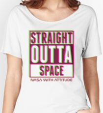 Neon Straight Outta Space 2  Women's Relaxed Fit T-Shirt