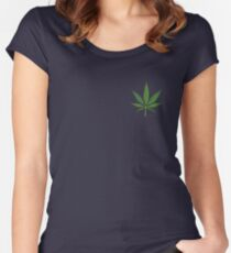 Beautiful weed leaf Women's Fitted Scoop T-Shirt