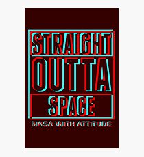 3D Straight Outta Space 2 (dark) Photographic Print