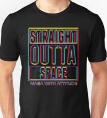 CMYK Straight Outta Space 2 (dark) T-Shirt