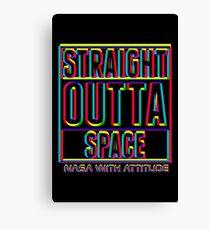 CMYK Straight Outta Space 2 (dark) Canvas Print