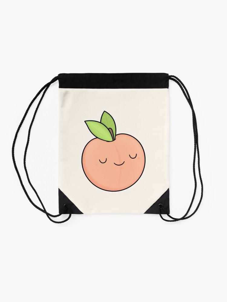 Alternate view of Happy Peach Drawstring Bag
