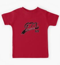 69 Plymouth GTX - White Outline Kids Clothes