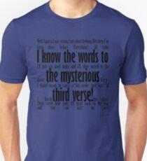 Mysteriöser dritter Vers Unisex T-Shirt