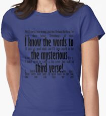 Mysterious Third Verse Women's Fitted T-Shirt