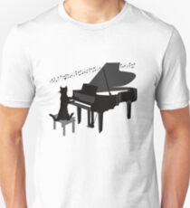 Funny Cat Playing Piano Keys Music Gift Unisex T-Shirt