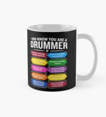 Taza Eres un baterista si la cita divertida del tambor muestra los 10 mejores signos