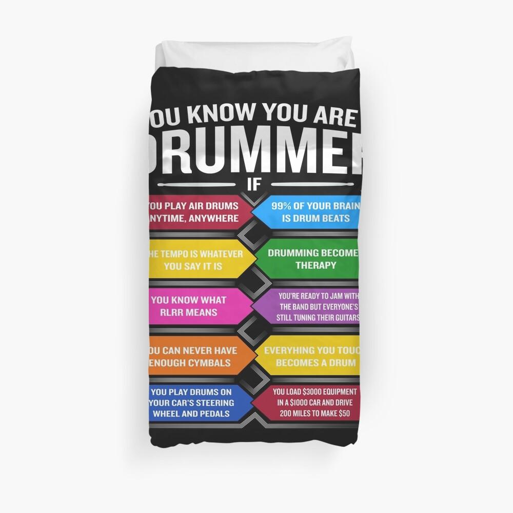 Eres un baterista si la cita divertida del tambor muestra los 10 mejores signos Funda nórdica