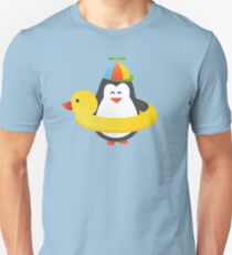 Cute Penguin with Duck Floatie T-Shirt