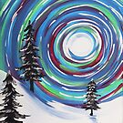 Whimsical Winter Scene by Express Yourself Artshop