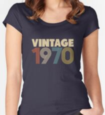 Vintage 1970 - 48th Birthday Women's Fitted Scoop T-Shirt