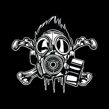 Cross Bones Gas Mask by asteriongraphic
