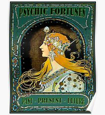 PSYCHIC FORTUNES : Vintage Gypsy Fortune Teller Advertising Print Poster