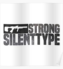 ODST Strong Silent Type Poster