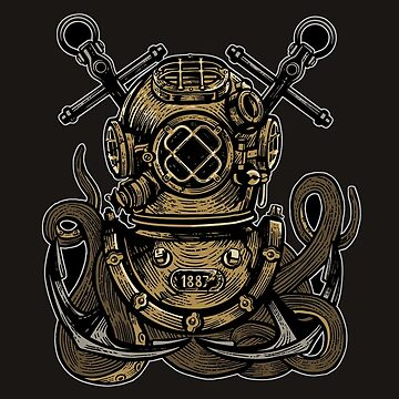 Diver Octopus by asteriongraphic
