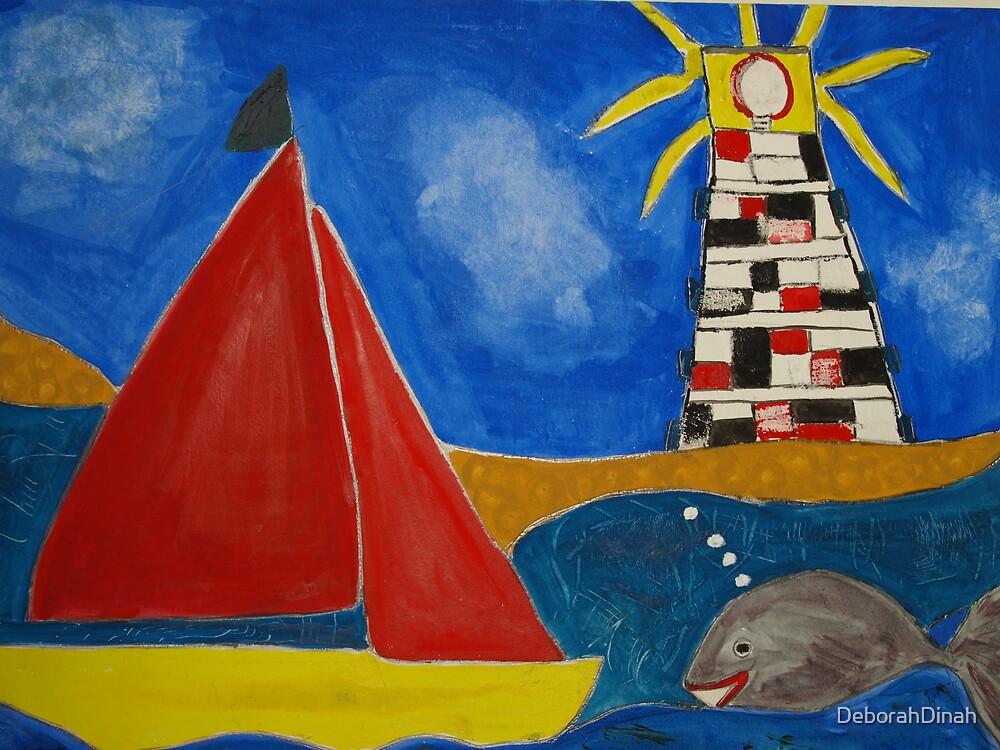 A Lighthouse shining bright by DeborahDinah