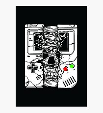Gameboy Skull Photographic Print