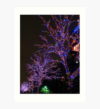 Street christmas Trees #3 Art Print