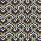Blue, Gray, Green and Brown Geometric Retro Pattern by Eyestigmatic
