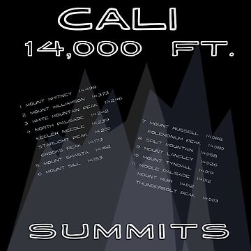 California's 14,000 foot Summits by daysray