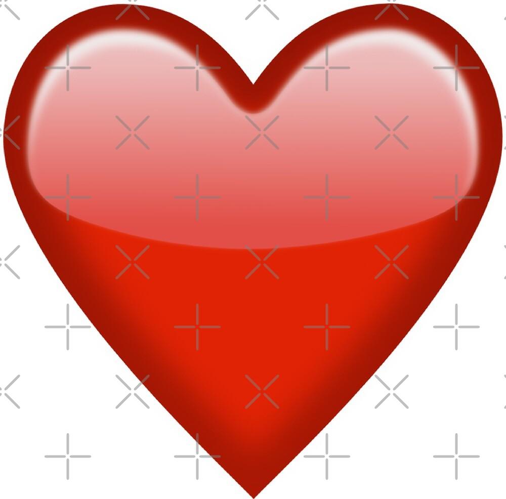 """""""Red Heart Emoji LOVE"""" By Ela Co"""
