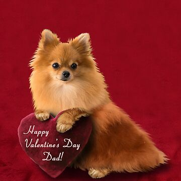 Valentine's Day Dad Pomeranian  by jkartlife