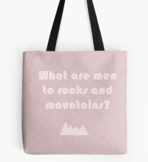 What are men to rocks and mountains topographical map Tote Bag