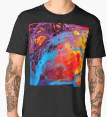Cute Colorful Girly Abstract Watercolor Pattern Men's Premium T-Shirt